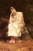 Benjamin Constant Contemplation oil